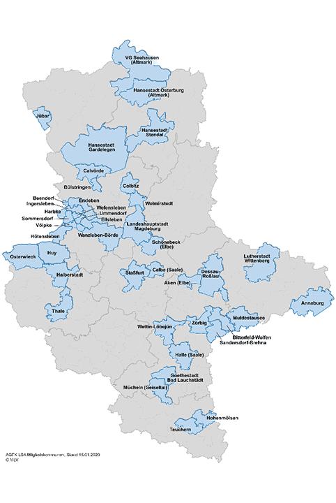Landkarte Sachsen-Anhalt