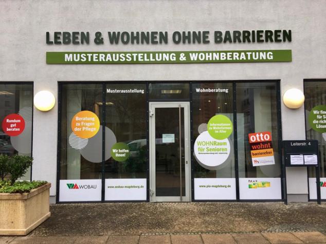 Eingang des Beratungszentrums PiA e. V. in Magdeburg